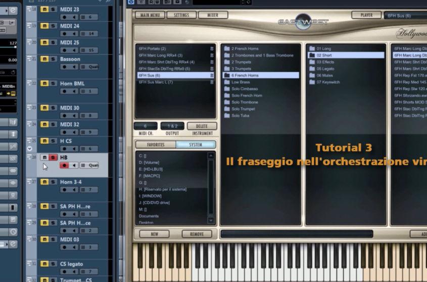 Tutorial 3 – Il fraseggio nell'orchestrazione virtuale