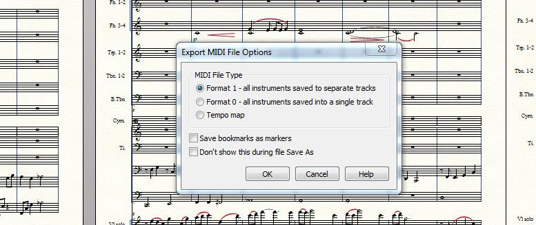 export midi panel